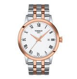 Tissot T-Classic Classic Dream Stainless Steel and Rose Gold Plated Men's Watch
