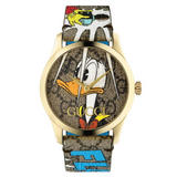 Gucci G-Timeless Donald Duck Gold PVD Watch