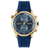 BOSS Globetrotter Gold Plated Chronograph Men's Watch