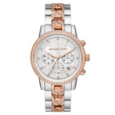 Michael Kors Ritz Steel and Rose Gold Plated Chronograph Ladies Watch