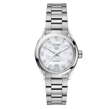 TAG Heuer Carrera Three Hands Date Automatic Diamond Ladies Watch