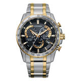 Citizen Perpetual Chrono A-T Steel and Gold Tone Men's Watch
