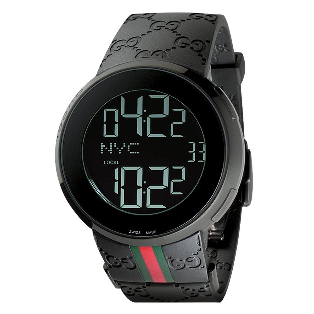 Gucci I-Gucci Ion Plated Digital Men's Watch