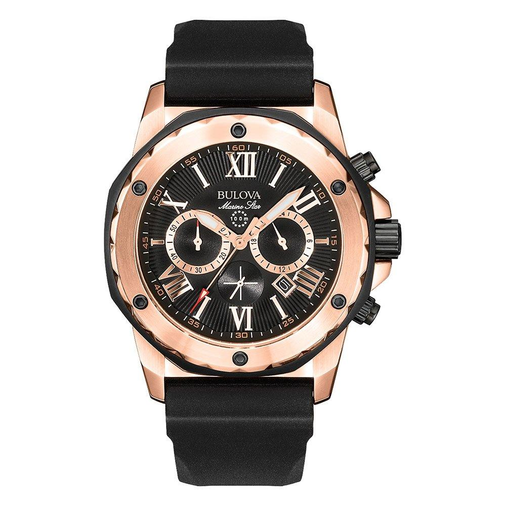 Bulova Sport Marine Star Rose Gold Tone Chronograph Men's Watch