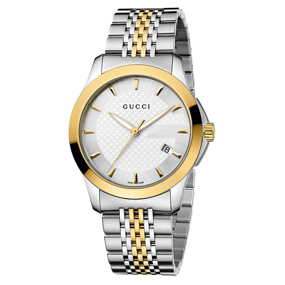 Gucci G-Timeless Gold Plated and Stainless Steel Men's Watch