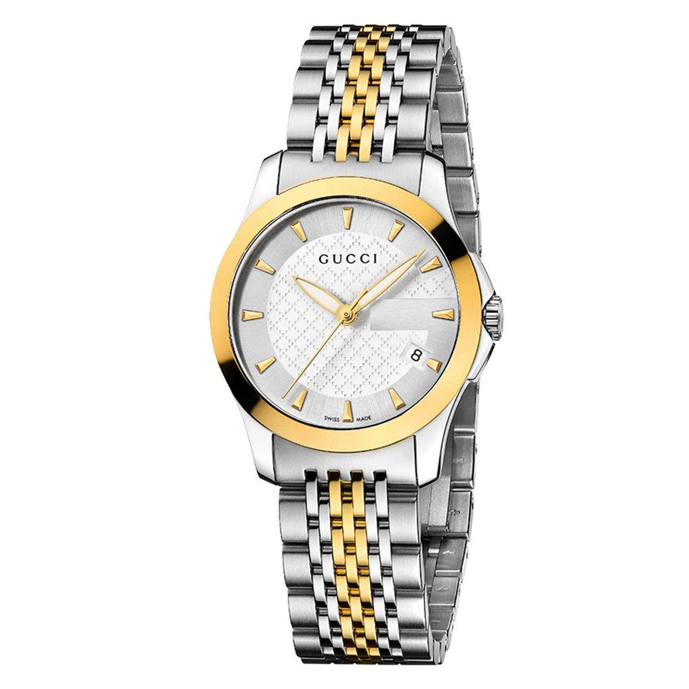 Gucci G-Timeless Gold Plated and Stainless Steel Ladies Watch