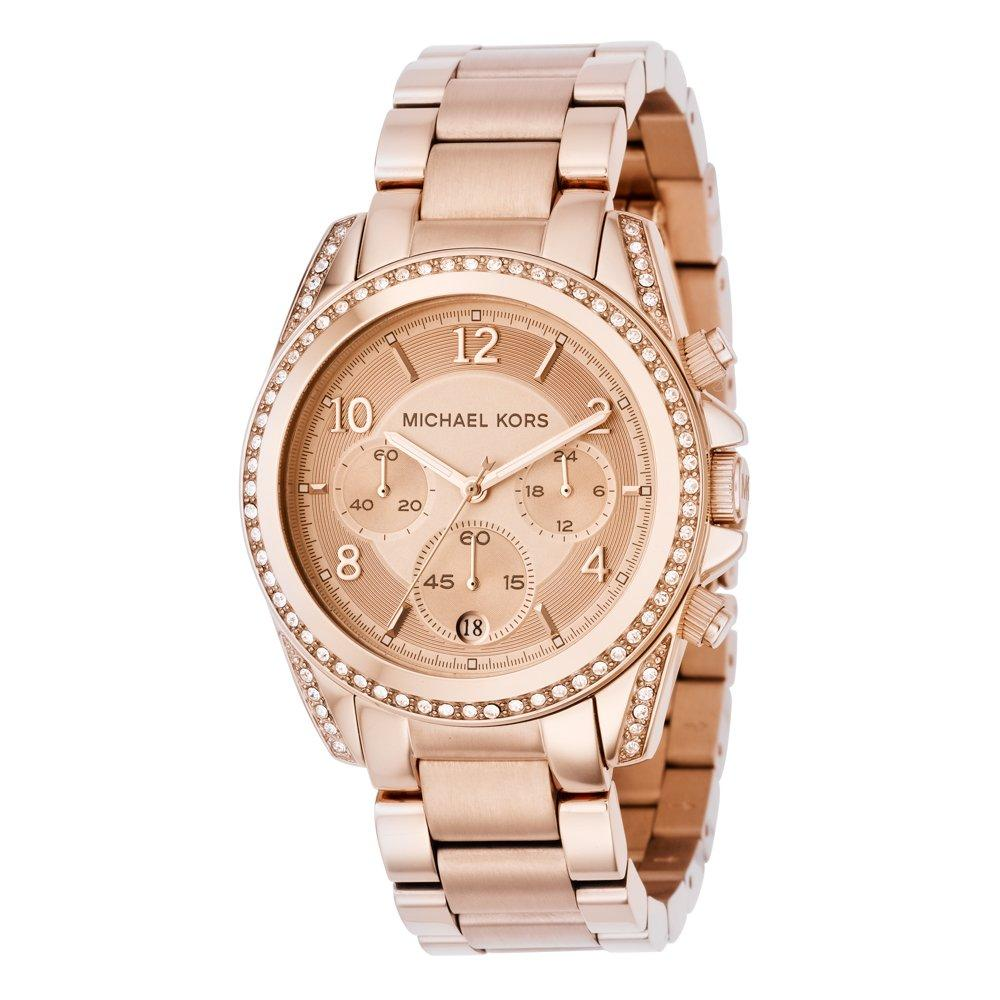 Michael Kors Blair Glitz Gold Tone Chronograph Ladies Watch