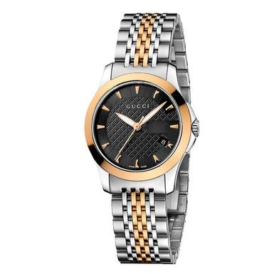 Gucci G Stainless Steel and Gold Plated Ladies Watch