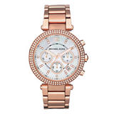 Michael Kors Rose Gold Tone Chronograph Ladies Watch