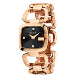Gucci G Collection Diamond Rose Gold Plated Watch