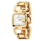 Gucci G-Collection Diamond Gold Plated Ladies Watch