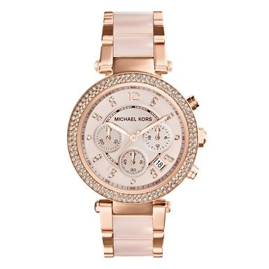 Michael Kors Parker Rose Glitz Chronograph Ladies Watch