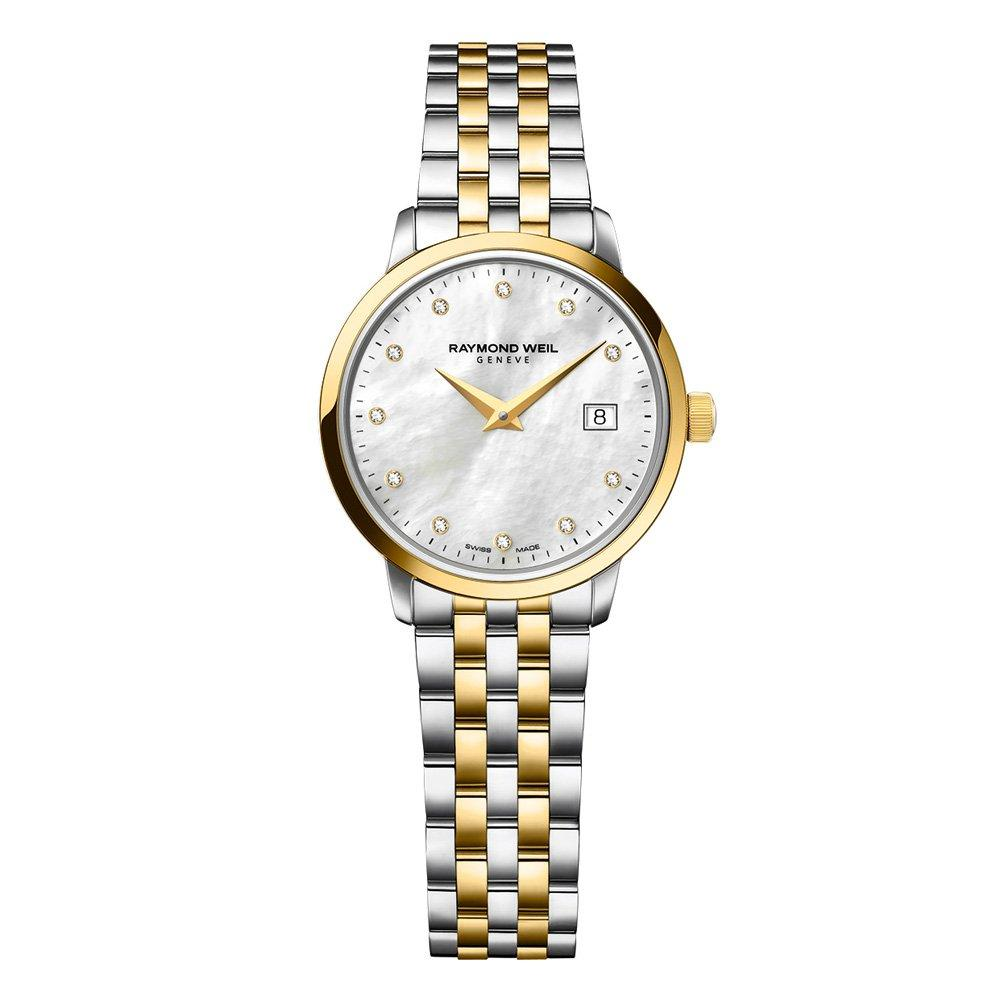 Raymond Weil Toccata Gold Plated and Stainless Steel Diamond Ladies Watch
