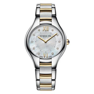 Raymond Weil Noemia Gold Plated and Stainless Steel Diamond Ladies Watch