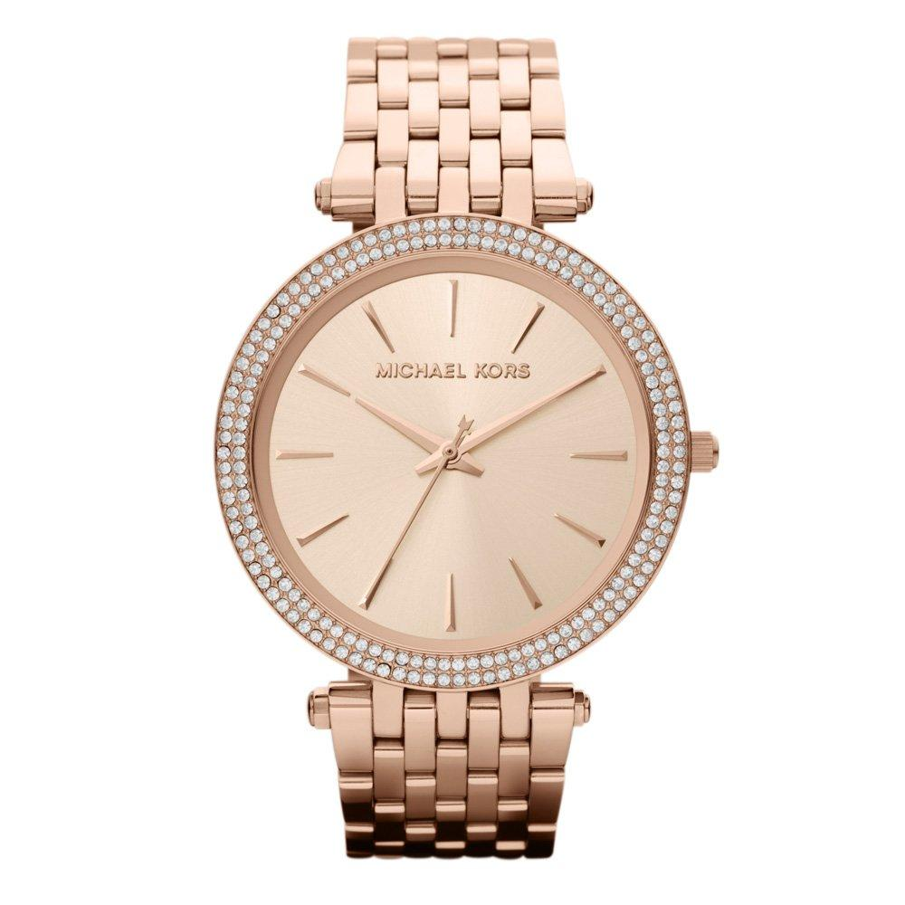 Michael Kors Darci Rose Gold Tone Crystal Watch