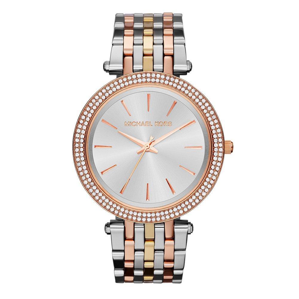Michael Kors Darci Tri-Colour Crystal Ladies Watch