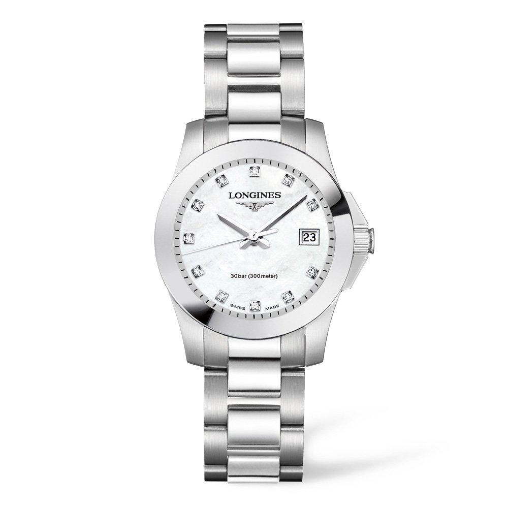 Longines Conquest Diamond Ladies Watch