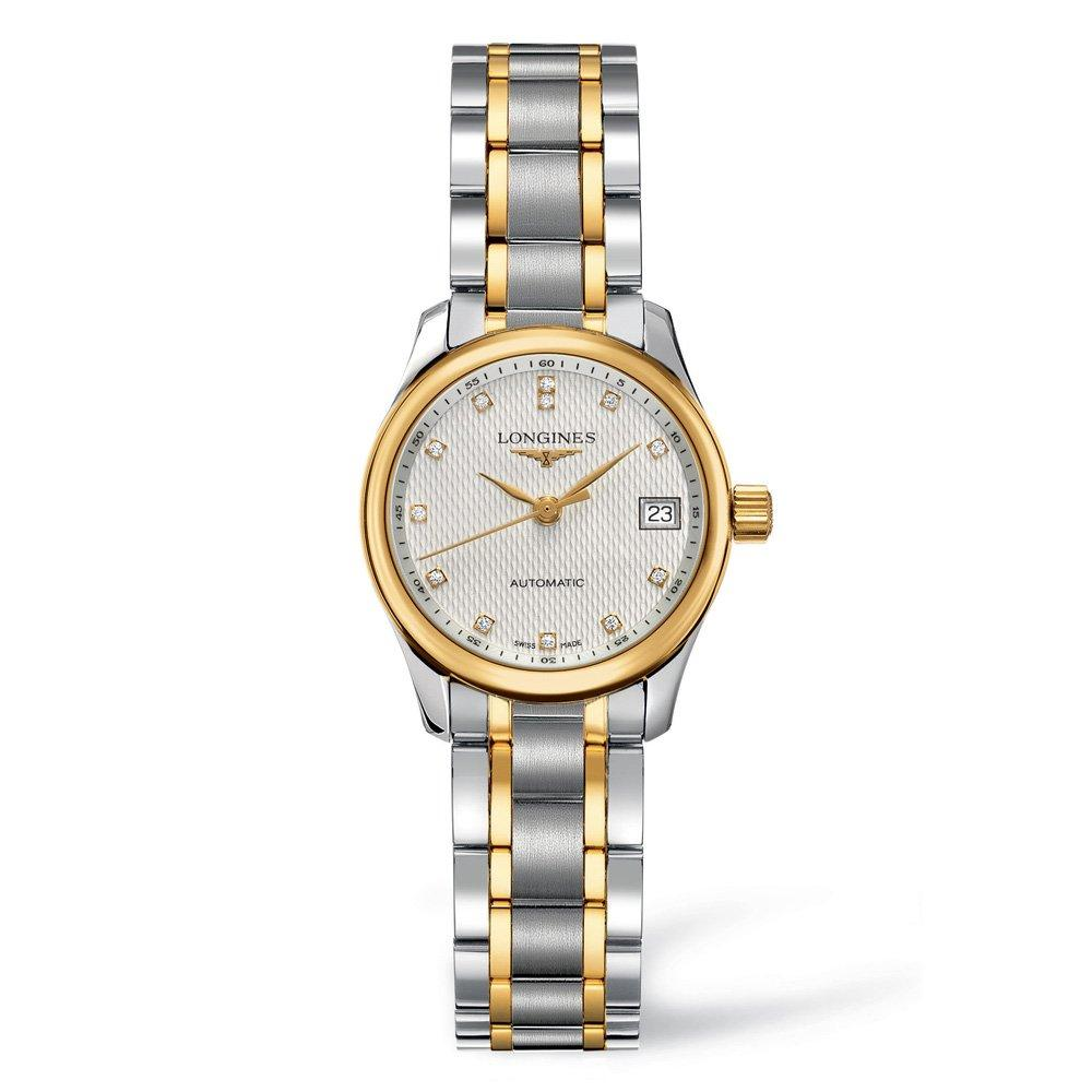 Longines Master Collection 18ct Gold Plated and Stainless Steel Diamond Automatic Ladies Watch