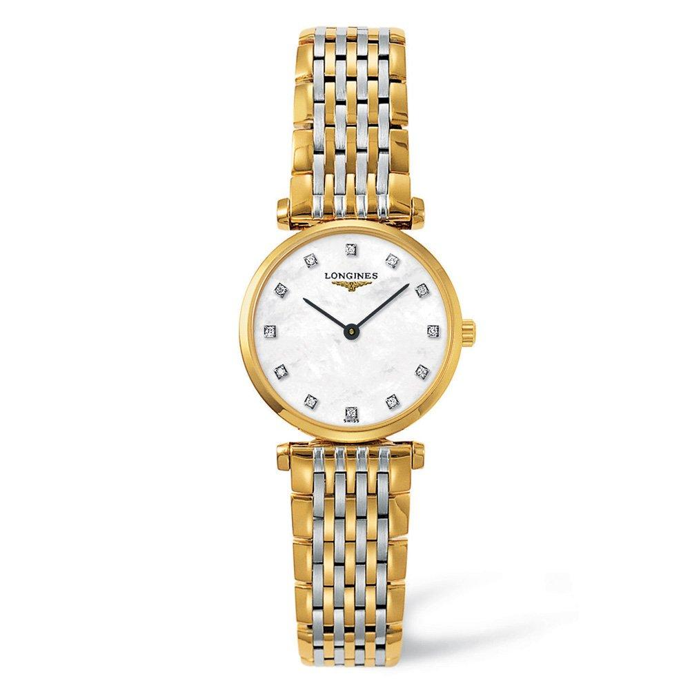 Longines La Grande Classique Gold Plated and Stainless Steel Diamond Ladies Watch