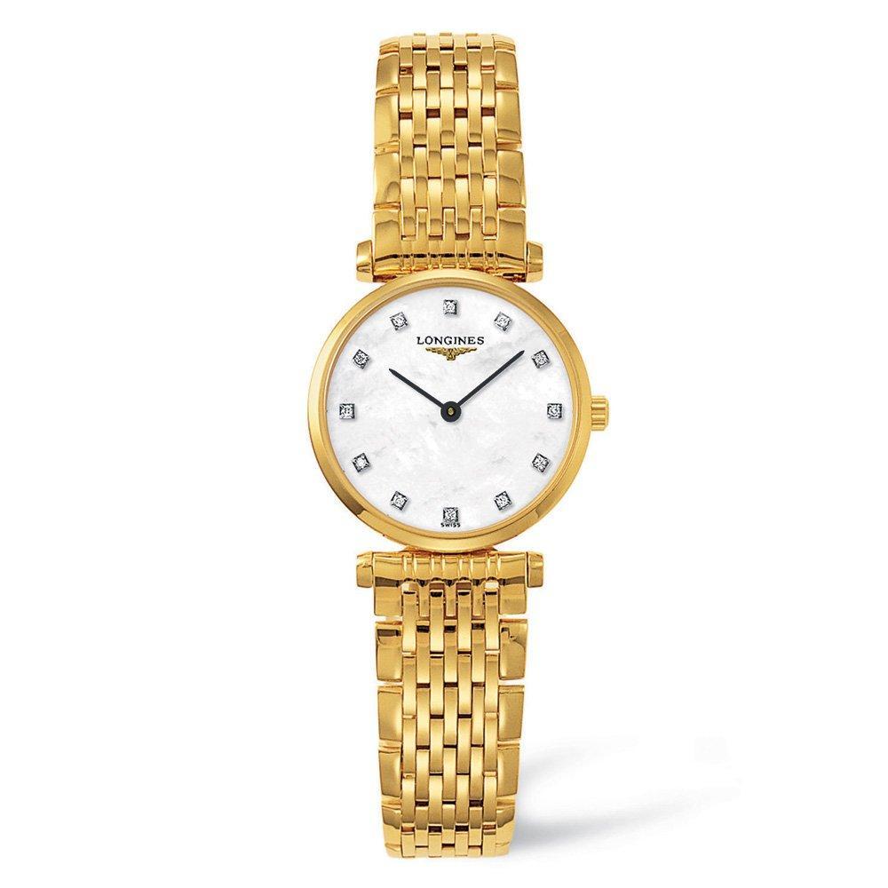 Longines La Grande Classique Gold Plated Diamond Ladies Watch