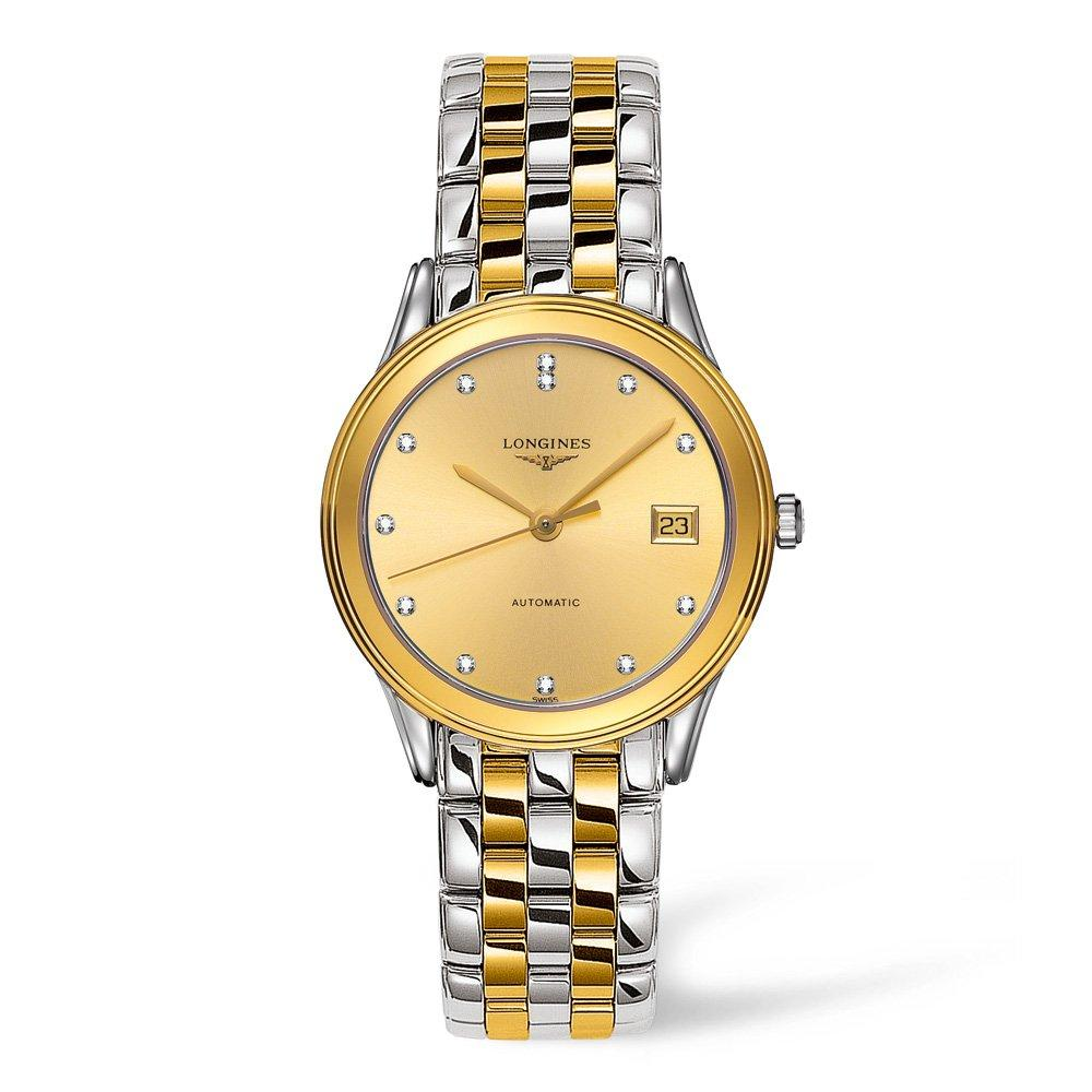 Longines La Grande Classique Gold Plated and Stainless Steel Diamond Automatic Men's Watch