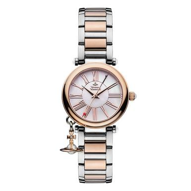 Vivienne Westwood Mother Orb Rose Gold Plated and Stainless Steel Ladies Watch
