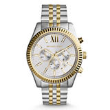 Michael Kors Lexington Gold Tone and Stainless Steel Chronograph Men's Watch