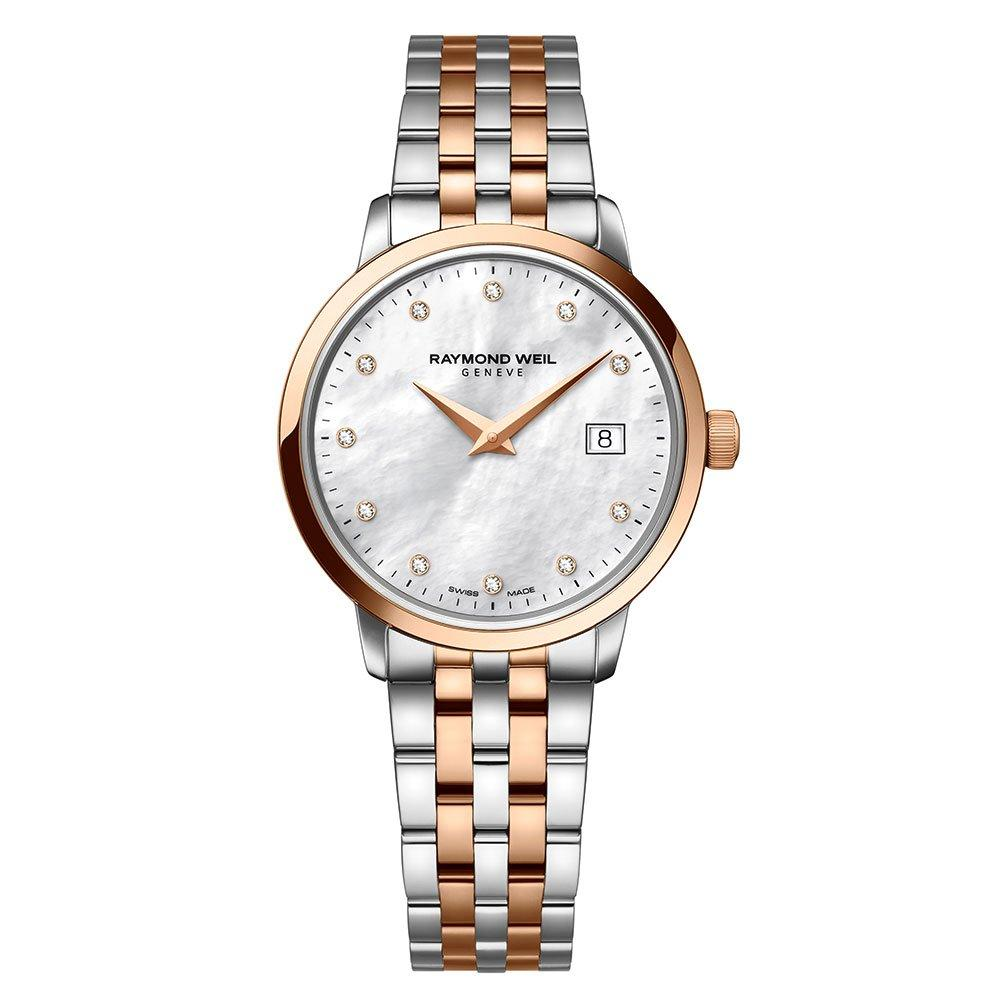 Raymond Weil Toccata Diamond PVD Rose Gold Plated and Stainless Steel Ladies Watch