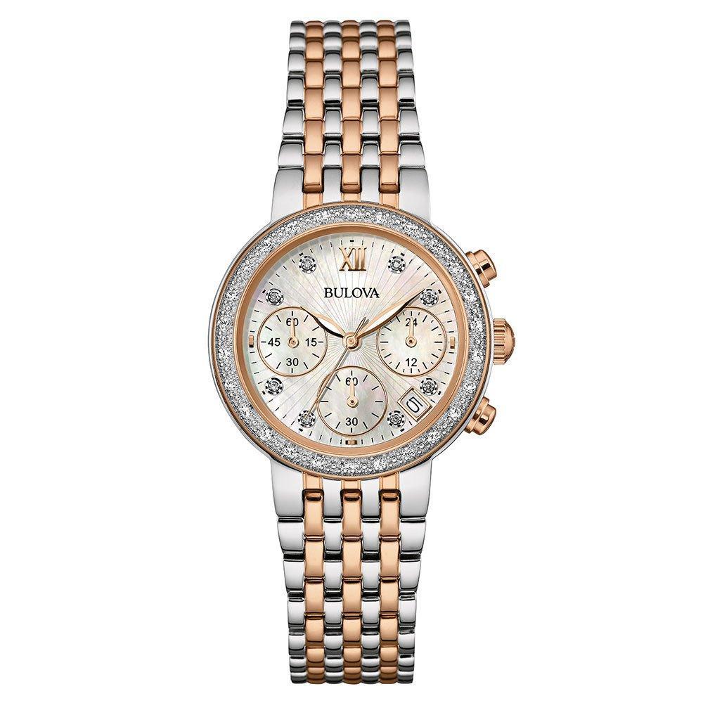 Bulova Diamond Two-Colour Chronograph Ladies Watch