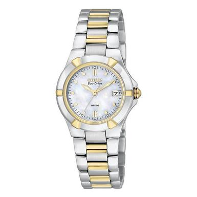Citizen Eco-Drive Riva Gold Plated and Stainless Steel Ladies Watch