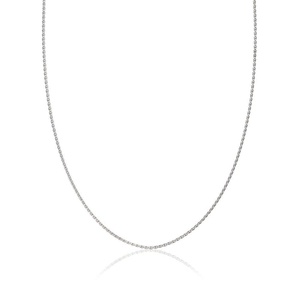 Platinum Spiga Chain 45cm