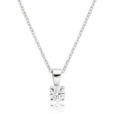 Platinum Diamond Solitaire Pendant