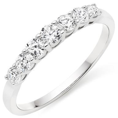 Silver Cubic Zirconia Eternity Ring