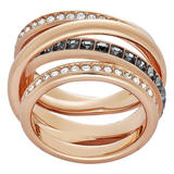 Swarovski Dynamic Rose Gold Plated Crystal Ring