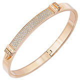 Swarovski Distinct Rose Gold PVD Plated Crystal Bangle
