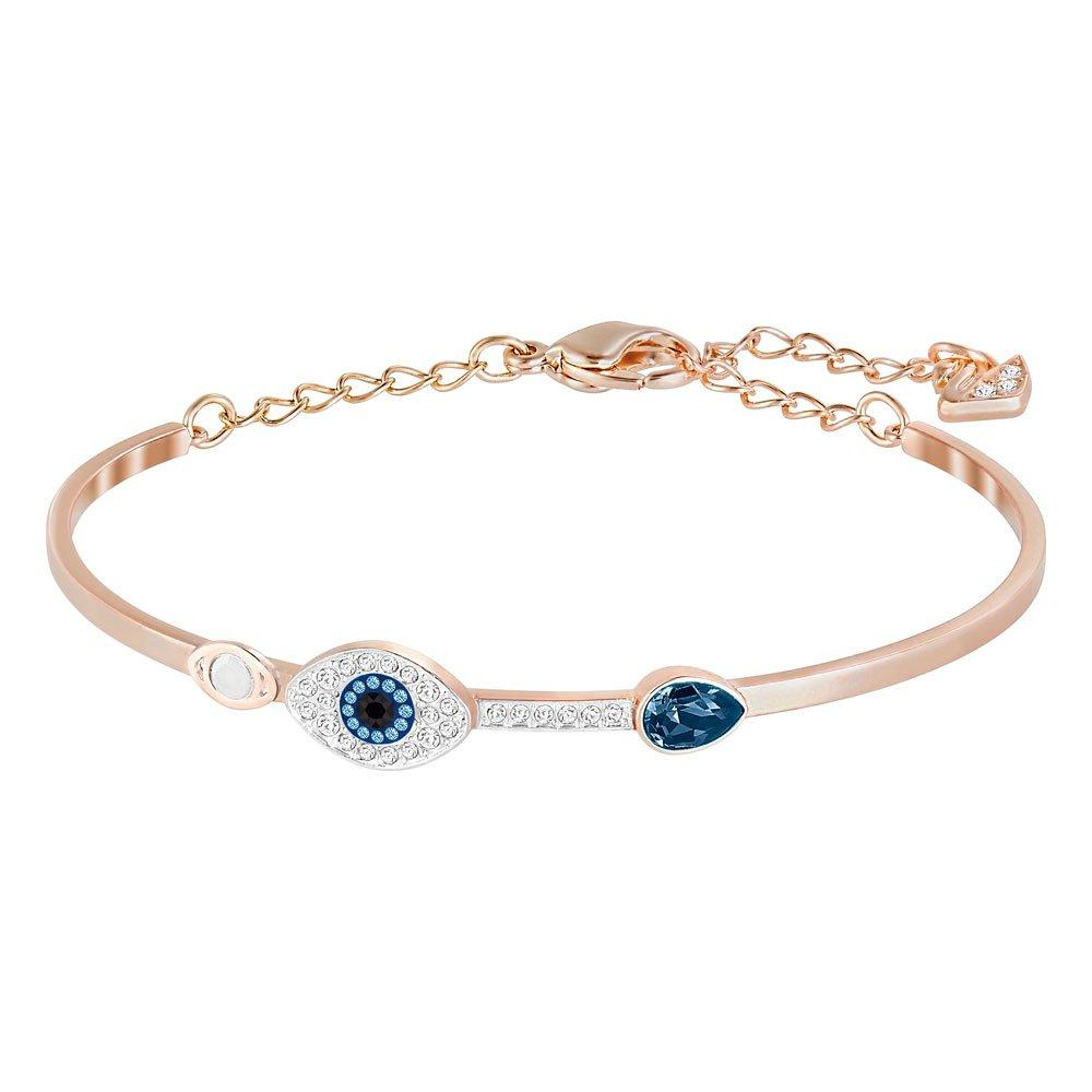 Swarovski Duo Evil Eye Rose Gold Bangle