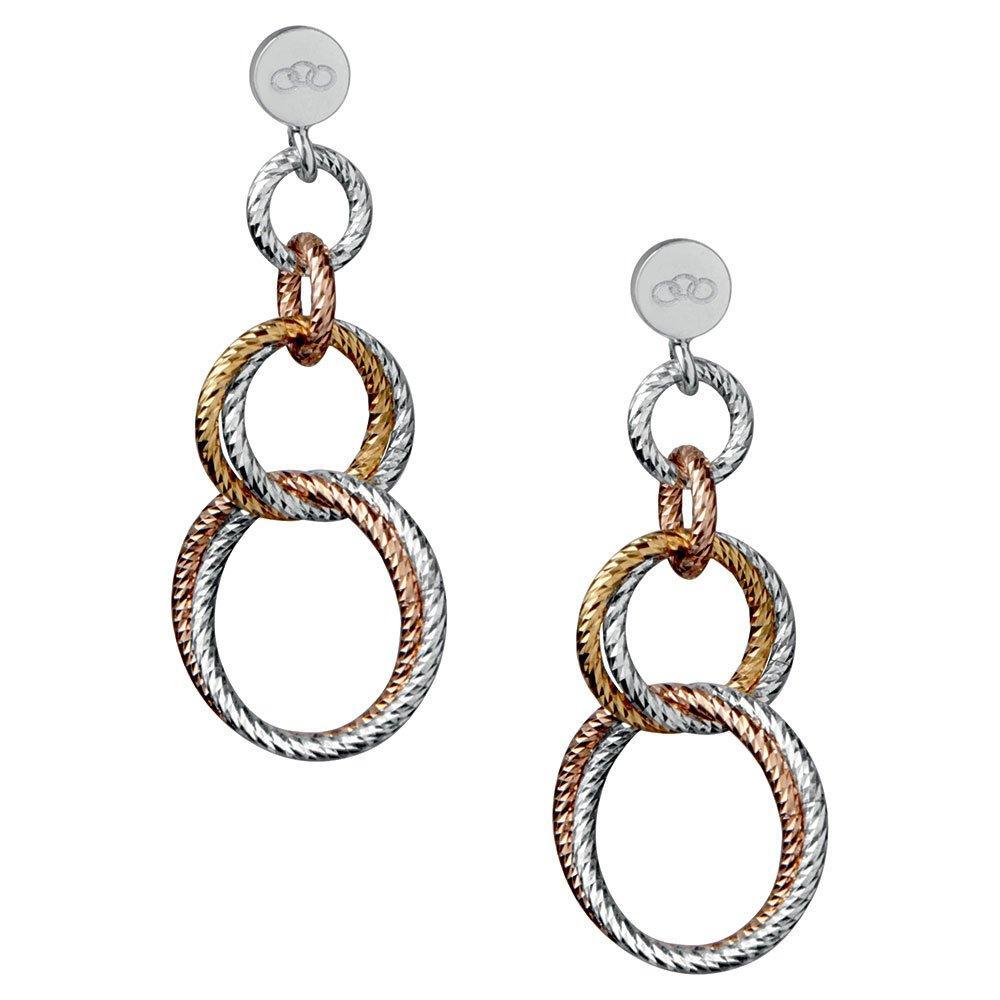 Links of London Aurora Three-Colour Metal Link Earrings