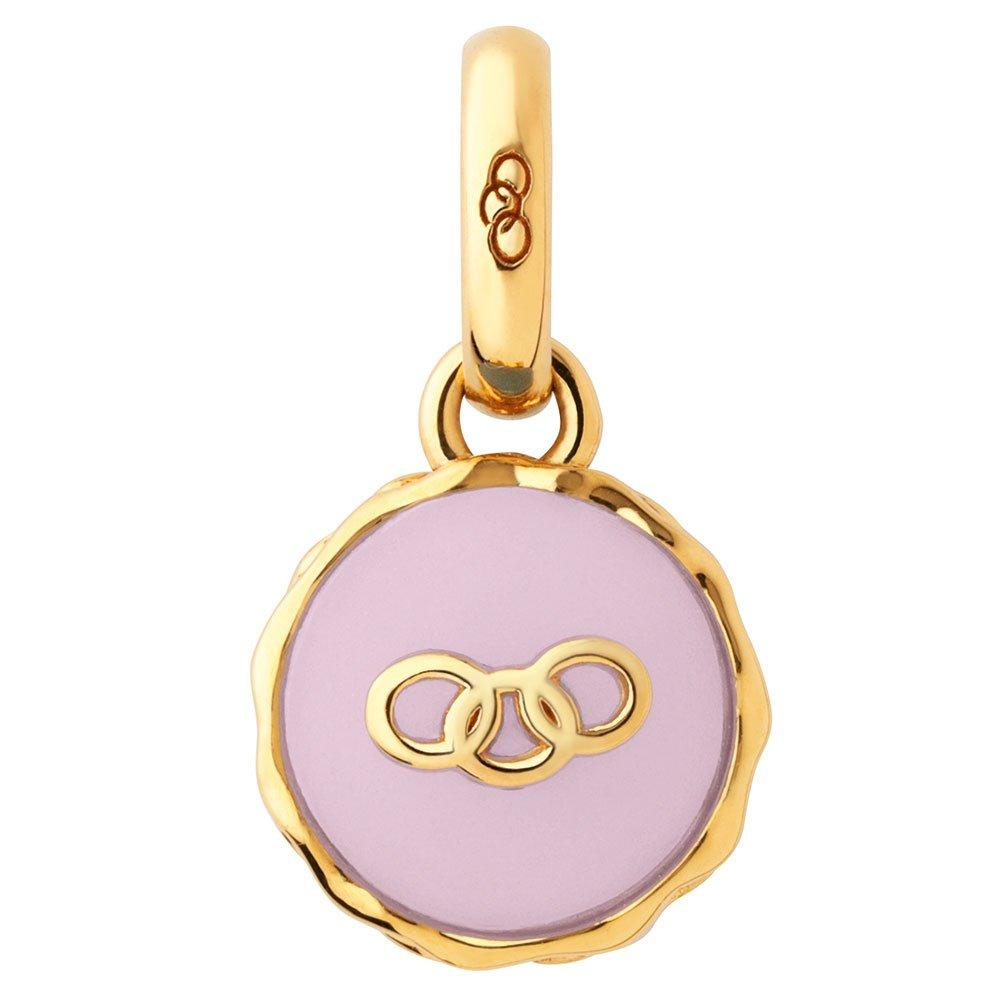 Links of London 18ct Gold Plated Strawberry Macaron Charm