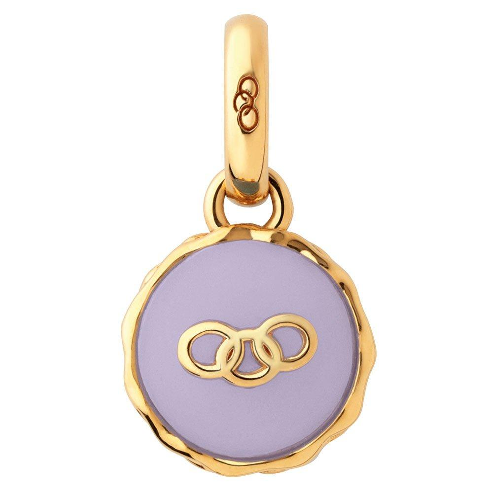 Links of London 18ct Gold Vermeil lavender Macaron Charm