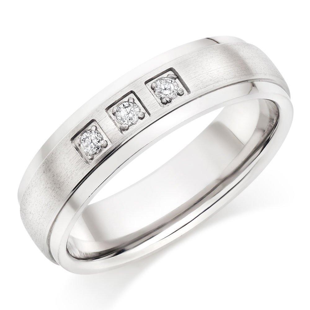 Titanium Diamond Men's Ring