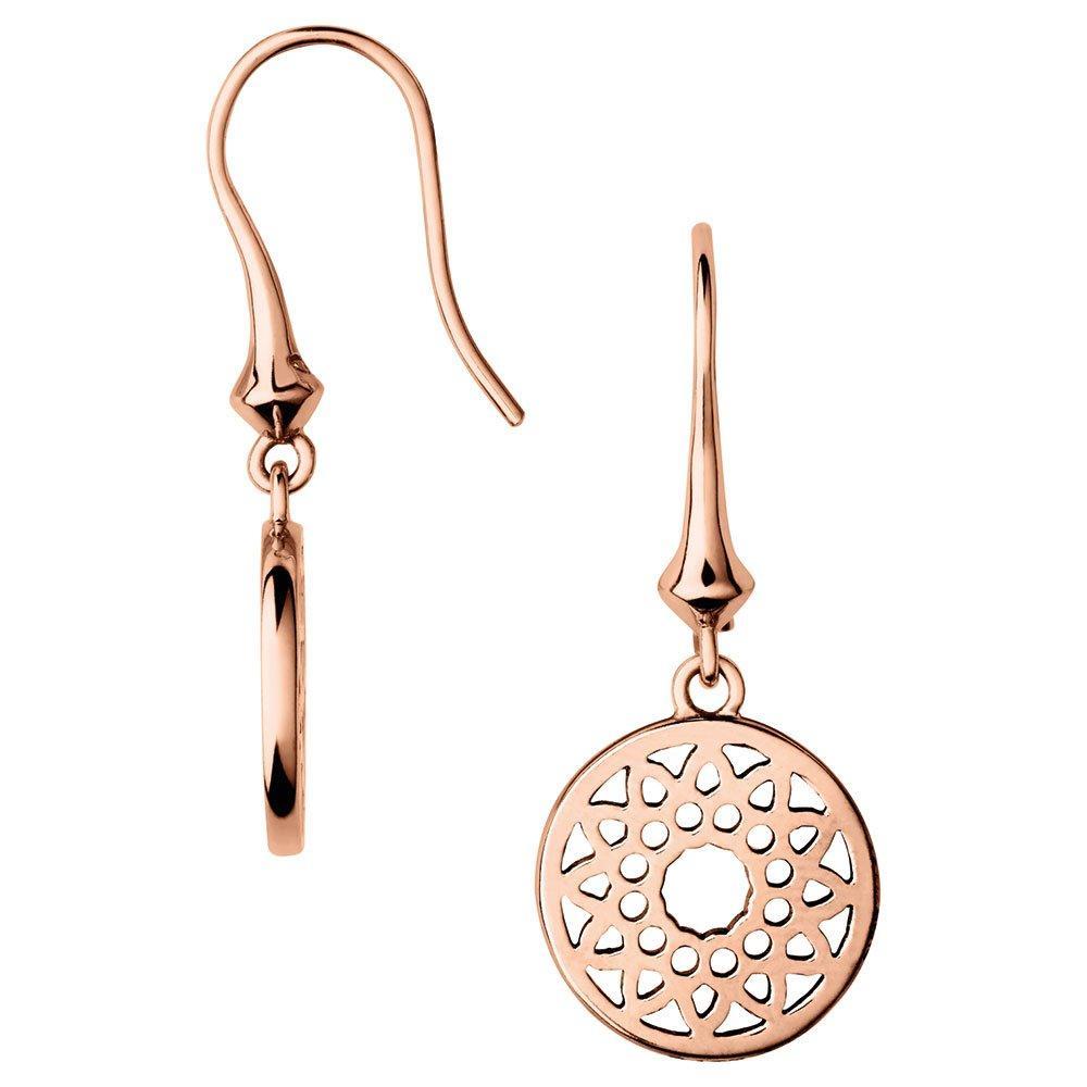 Links of London Timeless Silver Rose Gold Plated Earrings