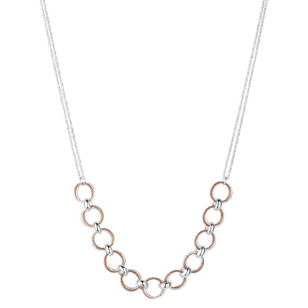 Links of London Silver and Rose Gold Plated Aurora Necklace