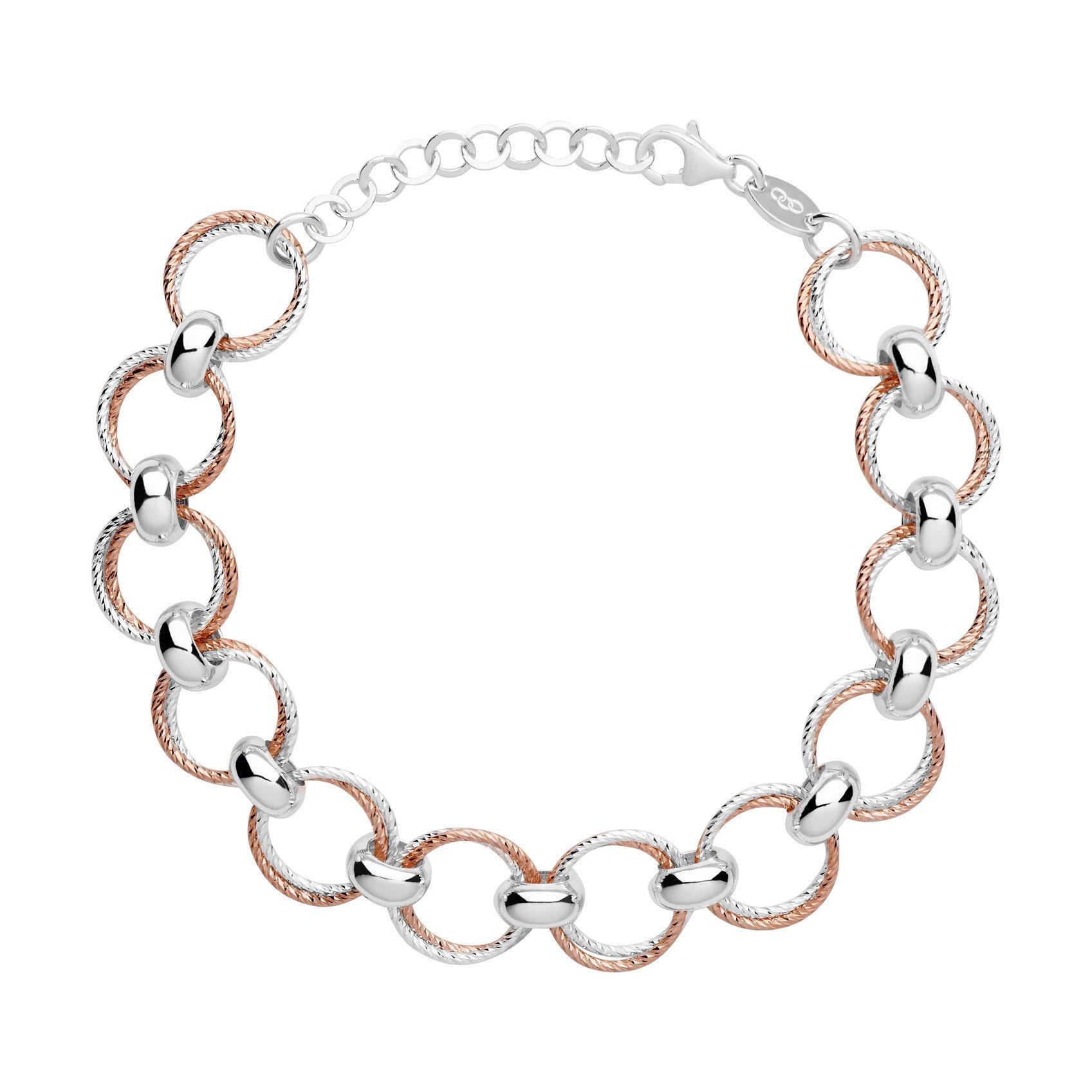 Links of London Aurora Silver Rose Gold Plated Bracelet