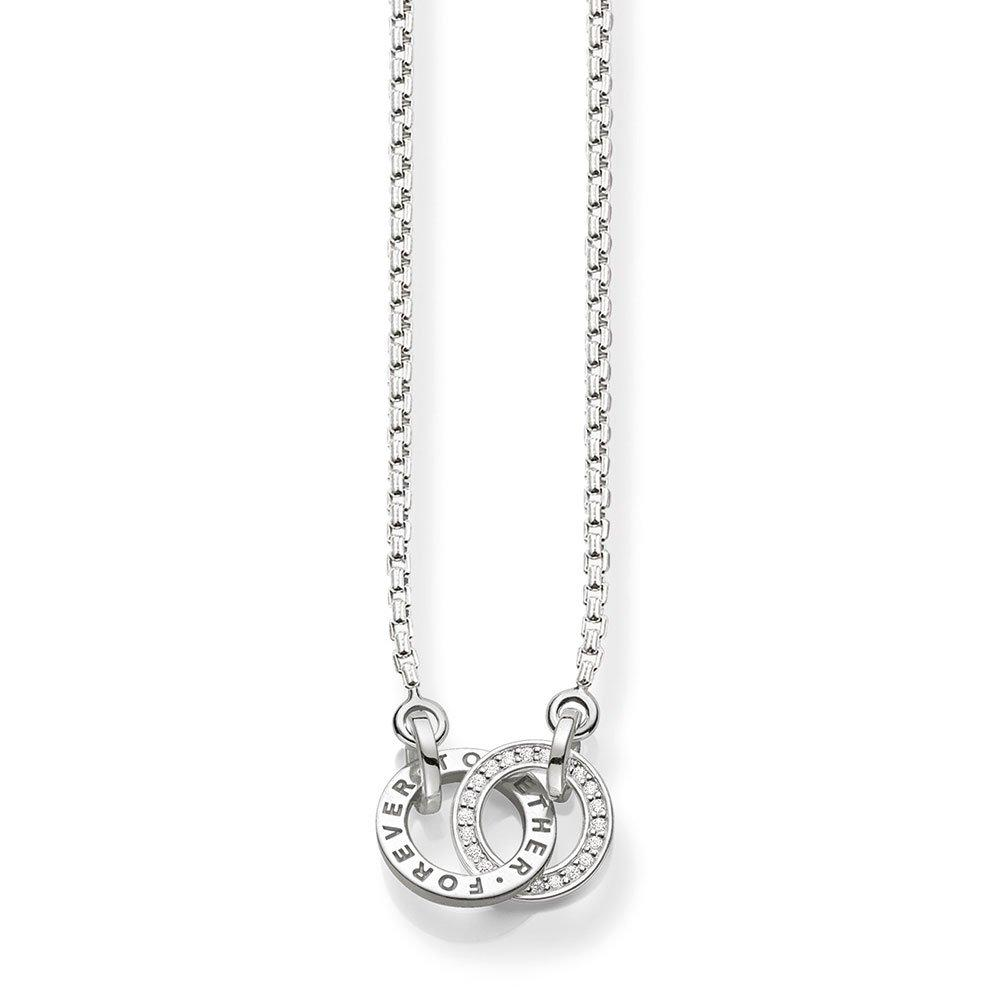 Thomas Sabo Glam & Soul Together Forever Silver Cubic Zirconia Necklace
