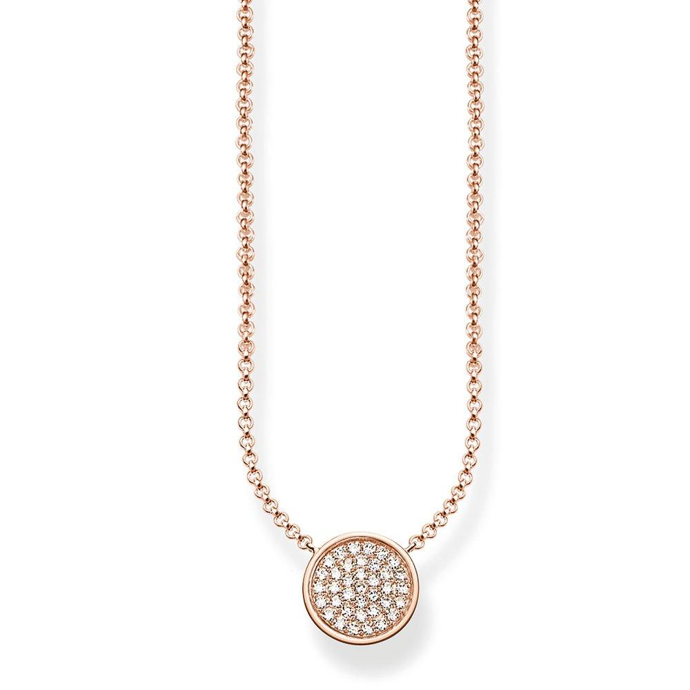 Thomas Sabo Glam & Soul Sparkling Circles 18ct Rose Gold Cubic Zirconia Necklace