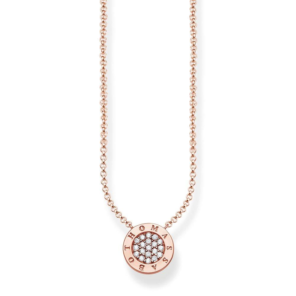 Thomas Sabo Glam & Soul Classic Pave 18ct Rose Gold Plated Cubic Zirconia Necklace