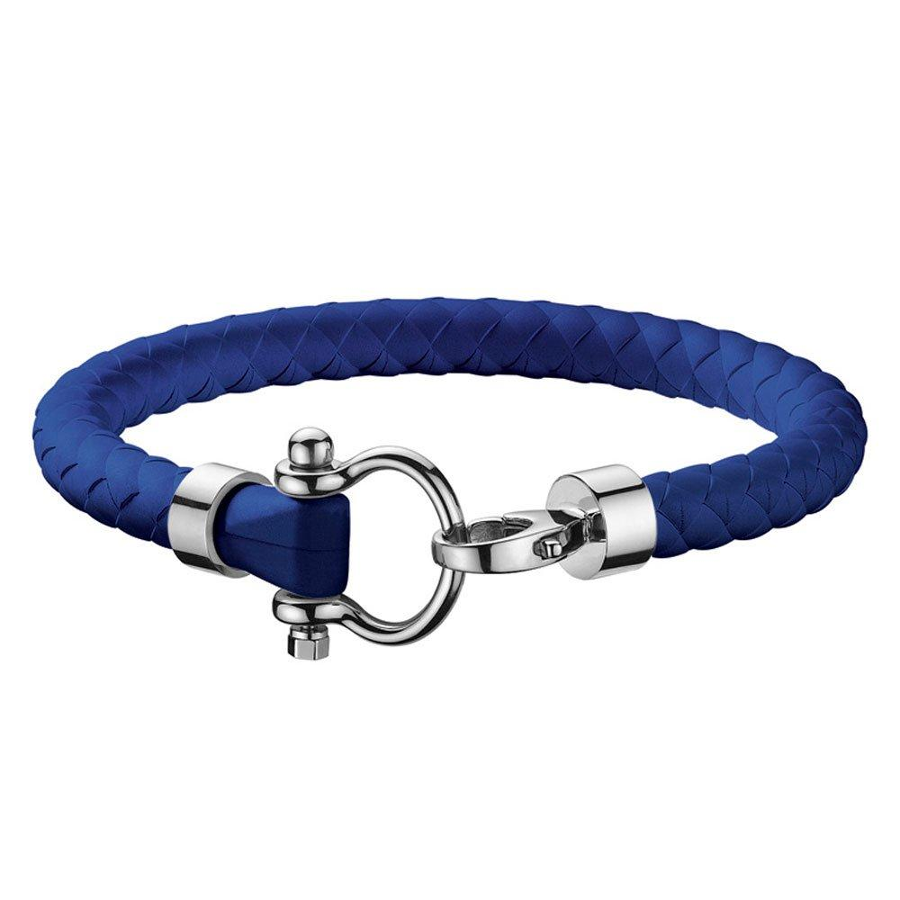 OMEGA Electric Blue Rubber Bracelet