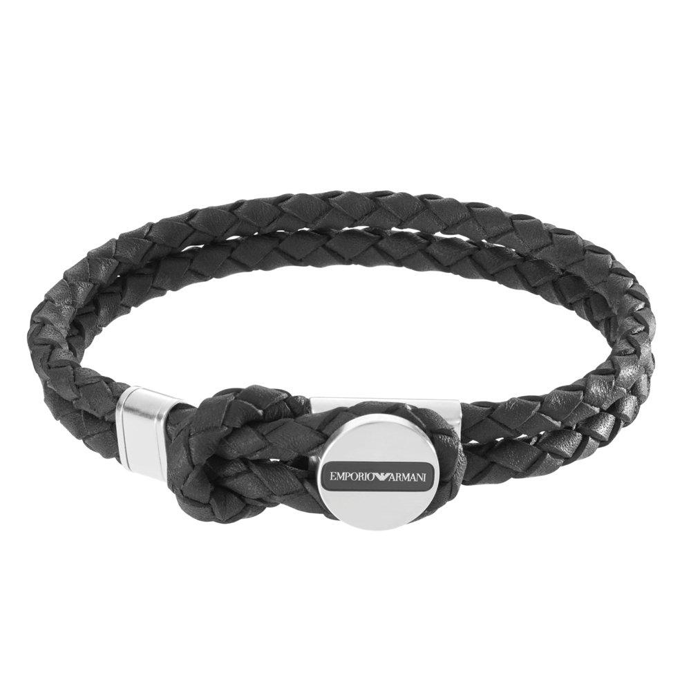 Emporio Armani Leather Men's Bracelet