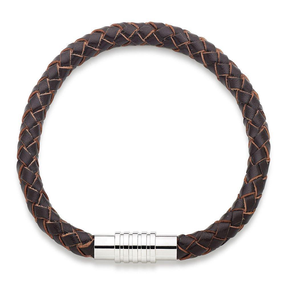 Brown Leather Men's Bracelet
