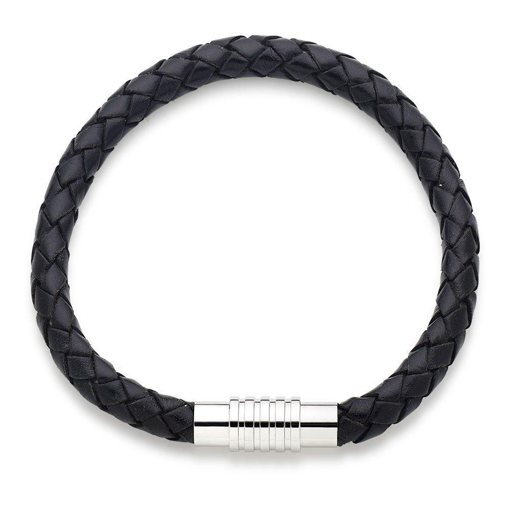 Black Leather Men's Bracelet